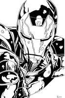 Iron Man close up Ink by TyndallsQuest
