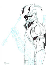 Green Arrow close up WIP2 by TyndallsQuest
