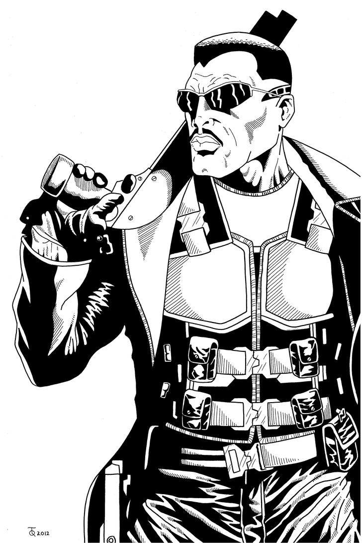 blade drawing blade close up inked by tyndallsquest on deviantart 7209