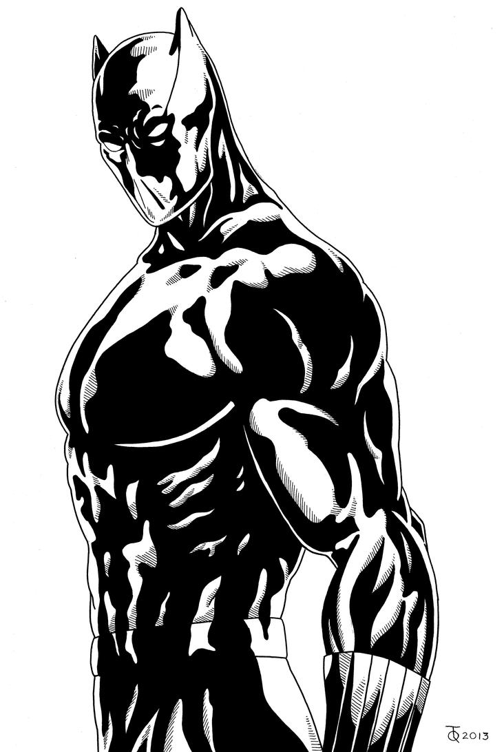 Black Panther Close Up Inked By Tyndallsquest On Deviantart