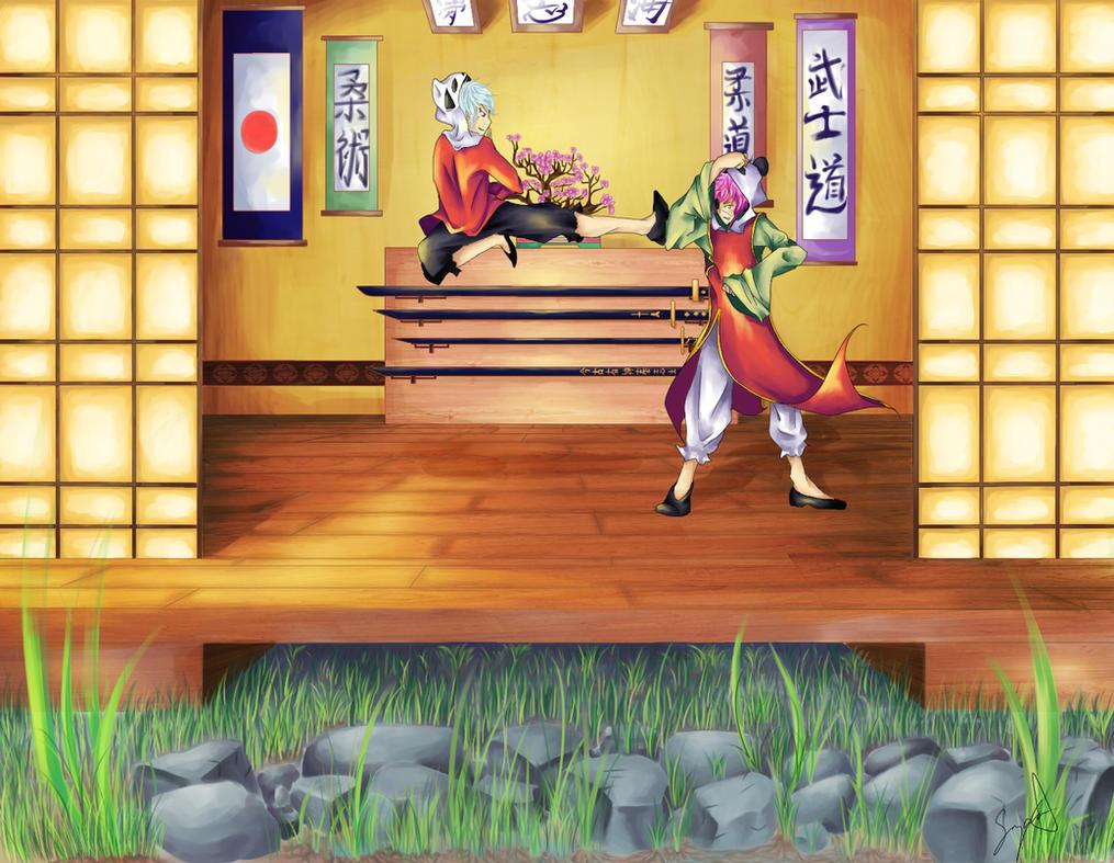 Panda Dojo by Maho-chi