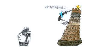 WALL-E and a Dalek