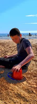 Declan at the beach