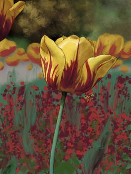 Fire Tulip - Procreate Painting