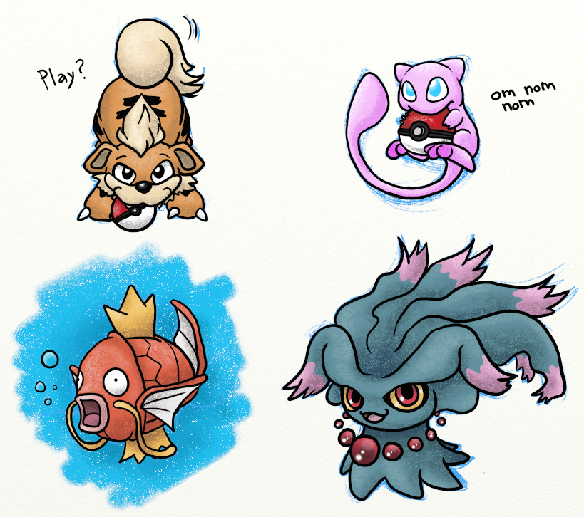 Pokemon Sketches 374476042