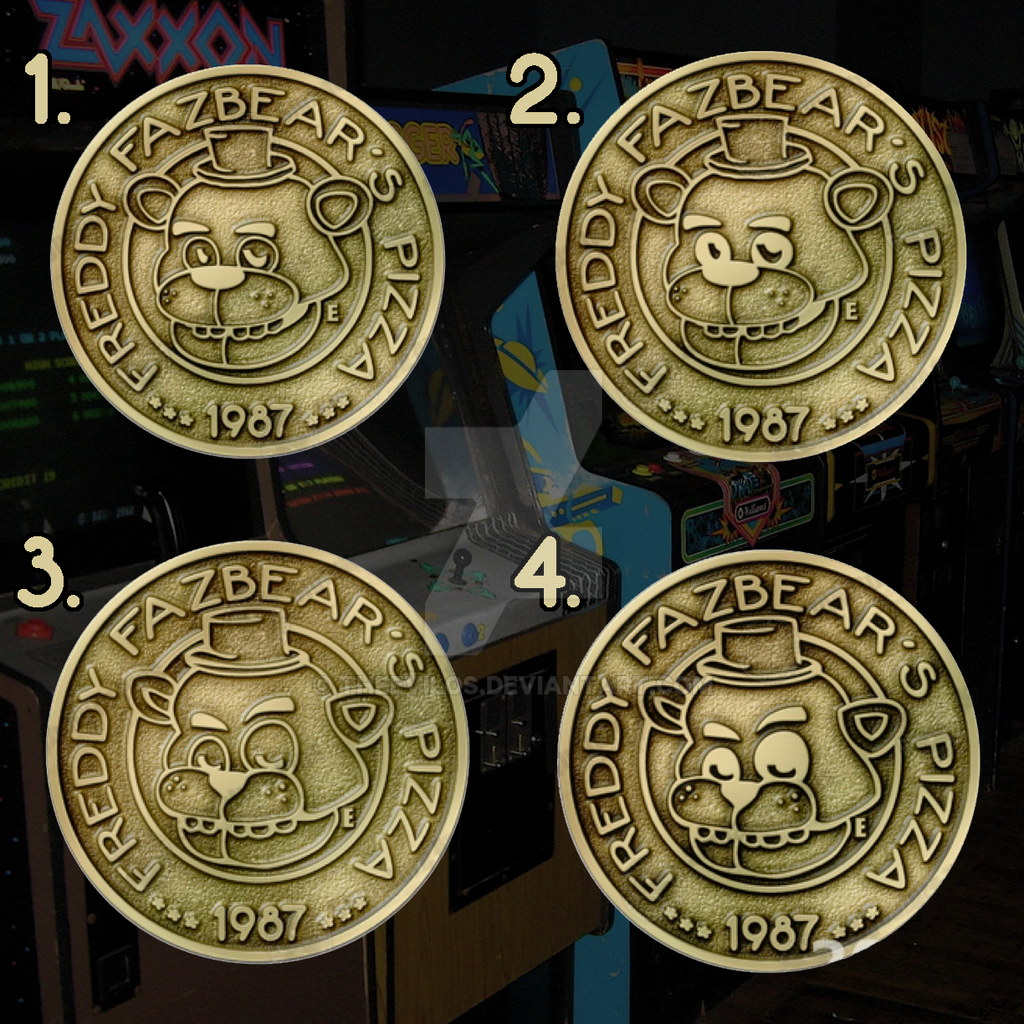 Freddy frazbears pizza phone number -  Five Nights At Freddy S Fazbears Pizza Tokens By Theevilos