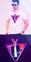 T-shirt Retro Cat - unisex