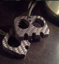 Pair of Blinky style 2 Finger Carbon Fiber Knucks by BlackKryptonite