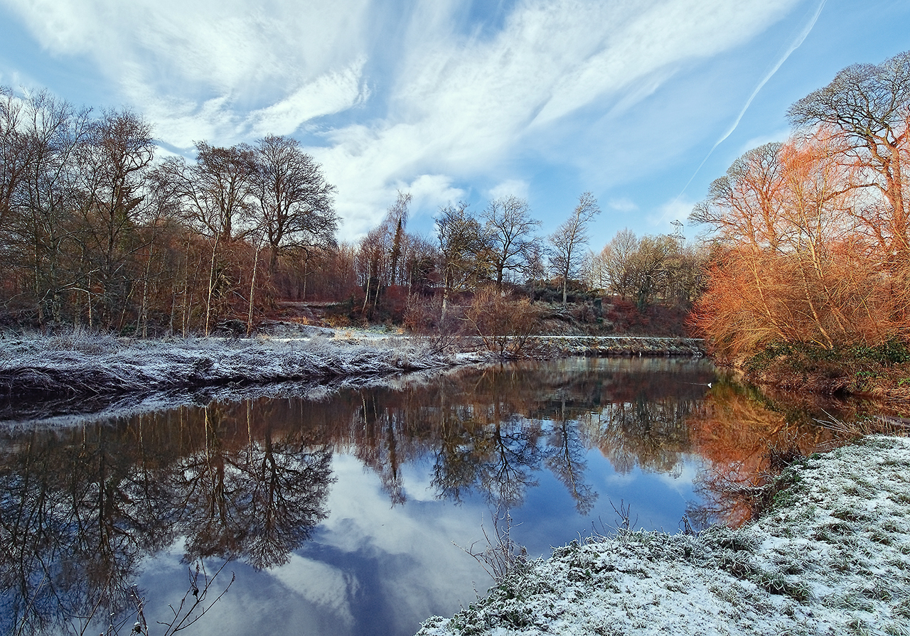 Snow at the Lagan, Minnowburn by Gerard1972