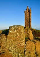 Scrabo Tower on the Rocks by Gerard1972