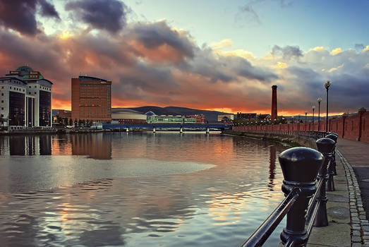 Belfast Laganside Sunset