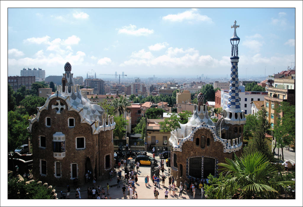 Barcelona from Parc Guell by Rajmund67