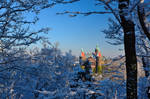 Ksiaz Castle and a lot of snow