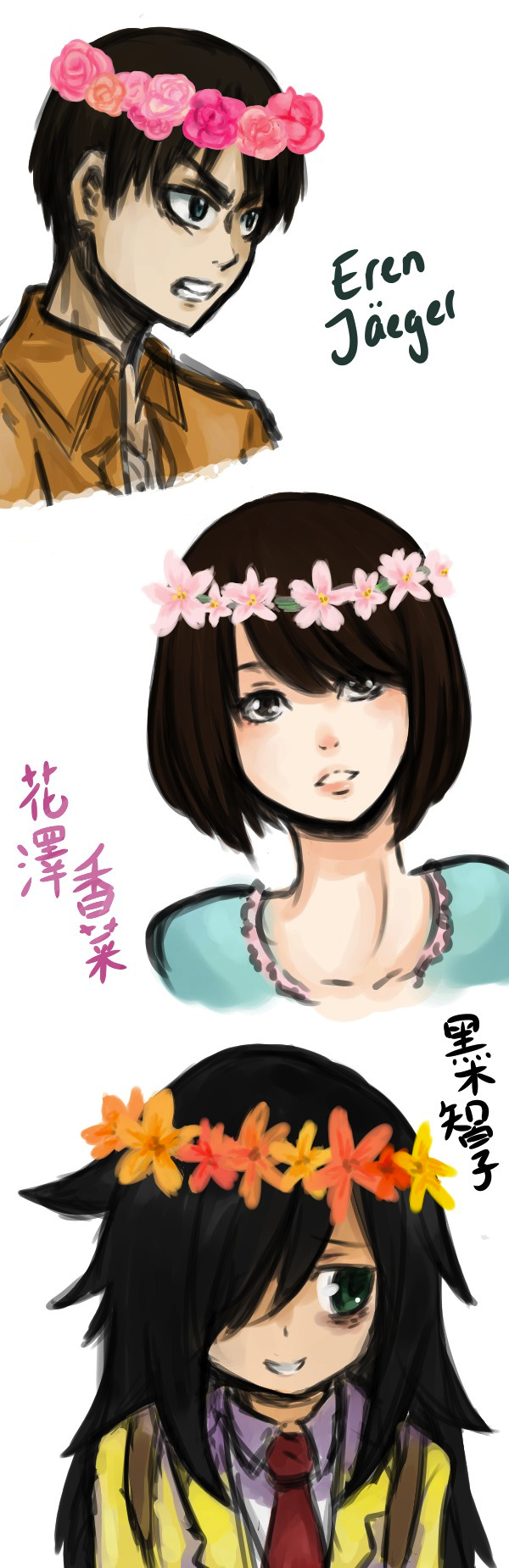 Flower Crown Sketchdump By Tamakichi On Deviantart