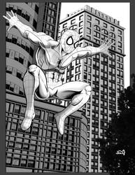 The Amazing Spiderman 08 ink.. by thelearningcurv