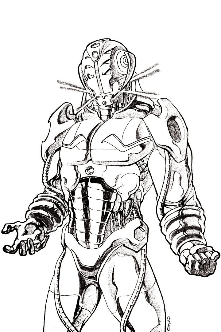 Coloring Pages Avengers Ultron : Vision avengers age of ultron coloring pages