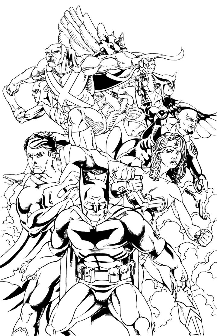 Manhunter Justice League Coloring Page Coloring Pages