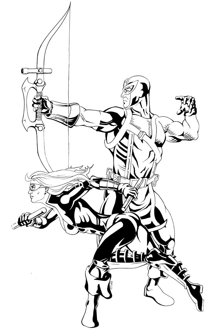 Hawkeye And Mockingbird By Thelearningcurv On DeviantArt