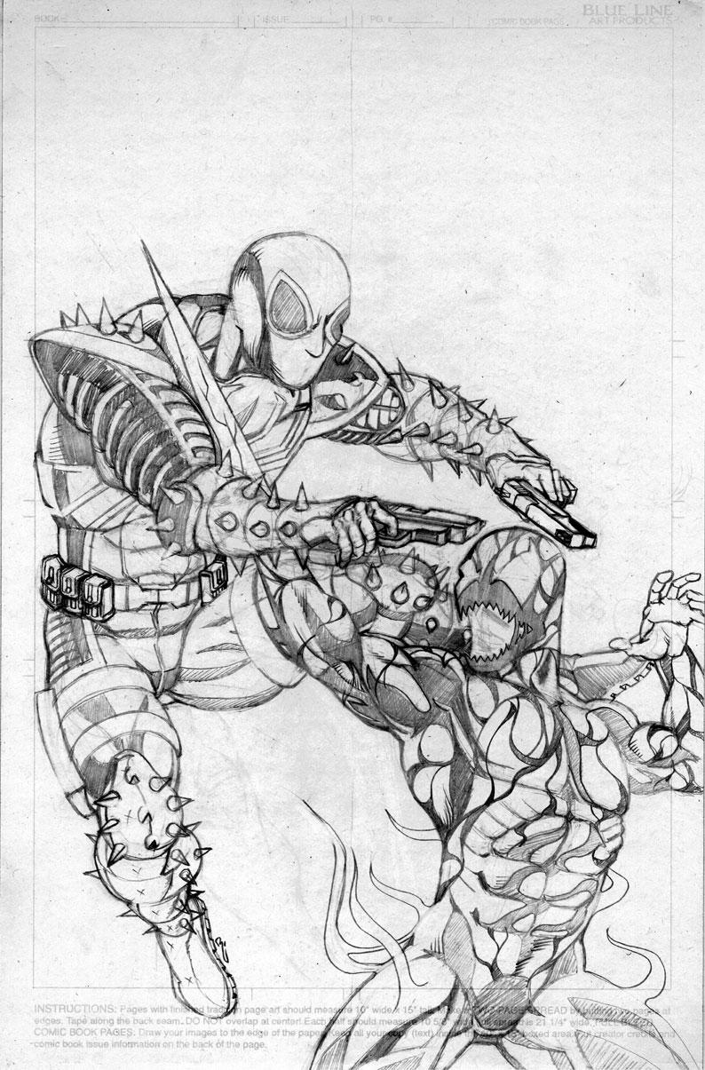Venom Vs Carnage sketch by thelearningcurv on DeviantArt