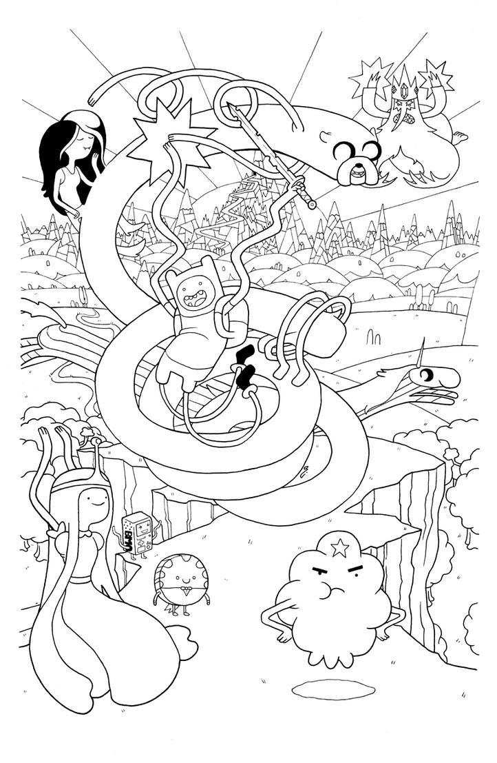 adventure time inks by thelearningcurv on deviantart