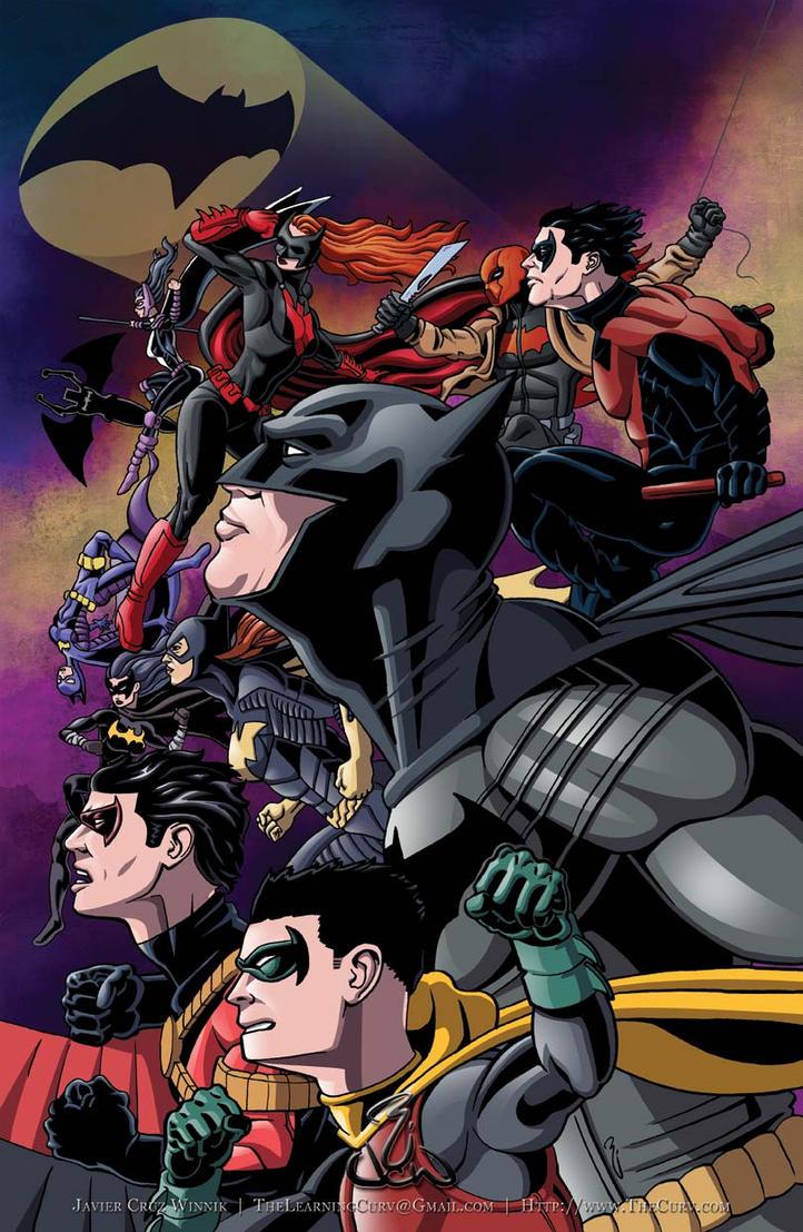 Batfamily1 by thelearningcurv