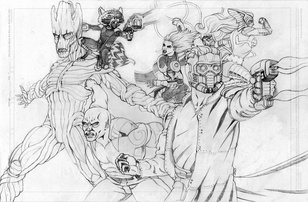 Guardians Pencils by thelearningcurv