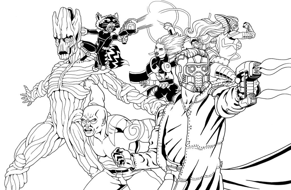 GOTG Inks by thelearningcurv