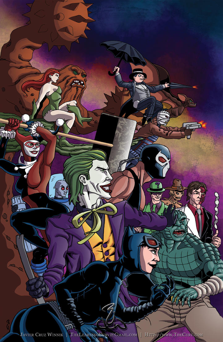 Batvillains by thelearningcurv