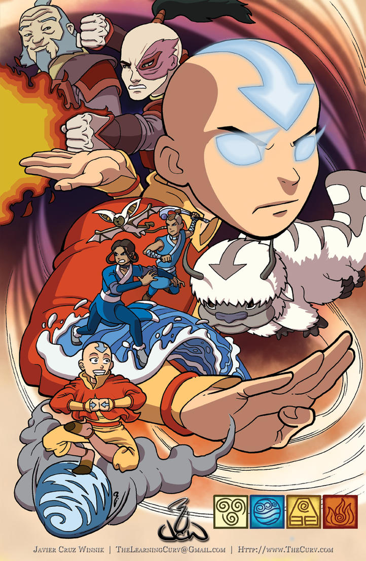 ...Avatar Aang... by thelearningcurv