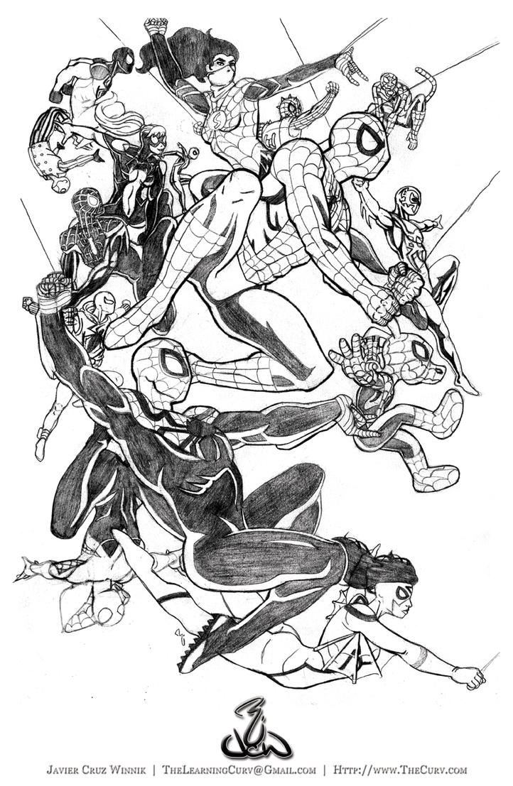 Spiderverse Pencils by thelearningcurv