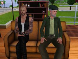 Bill and Francis sit by Gigglejigglepuff