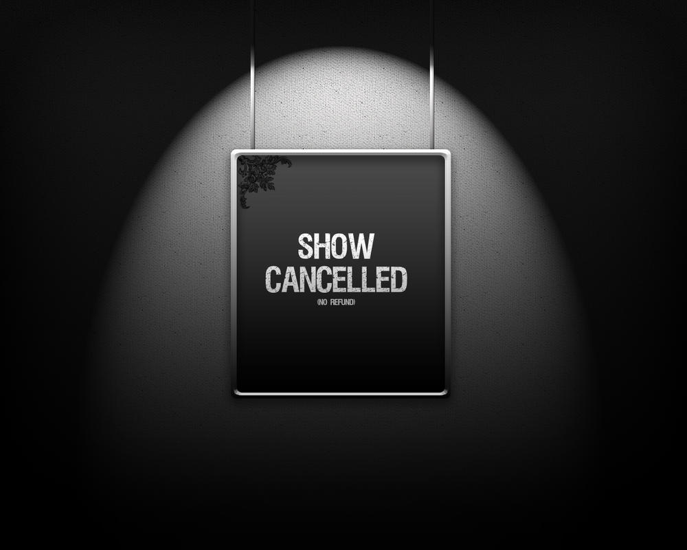 show cancelled graphic