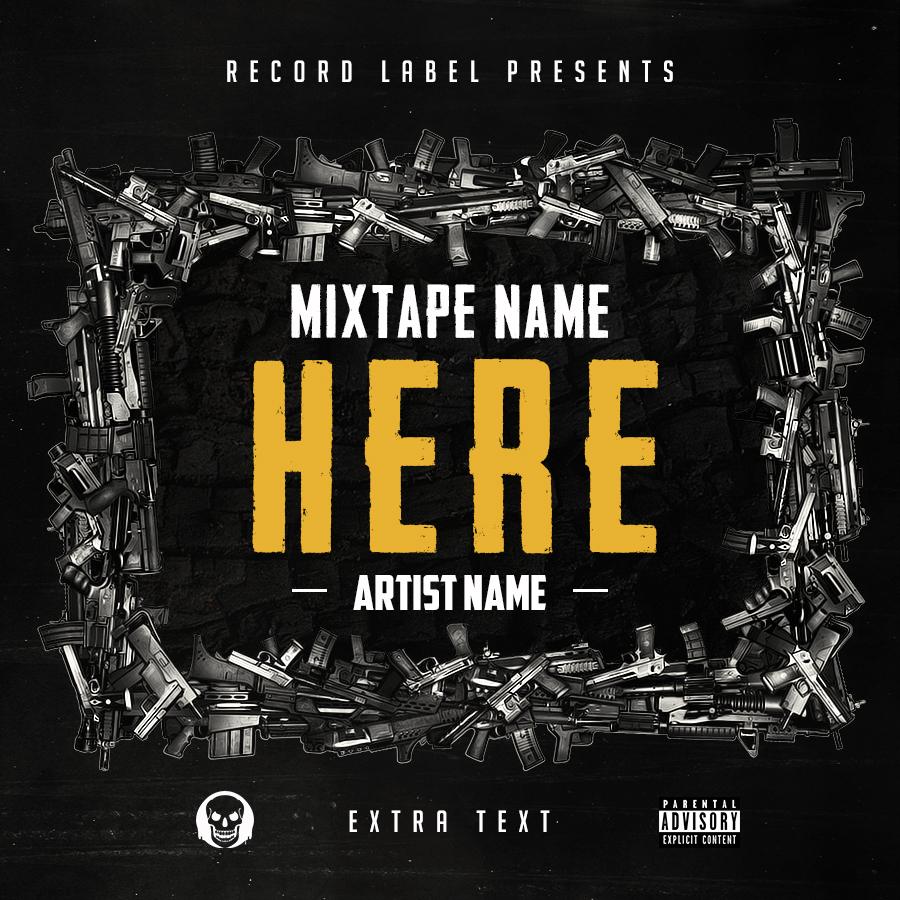 free hip hop mixtape cover v6 psd by shiftz