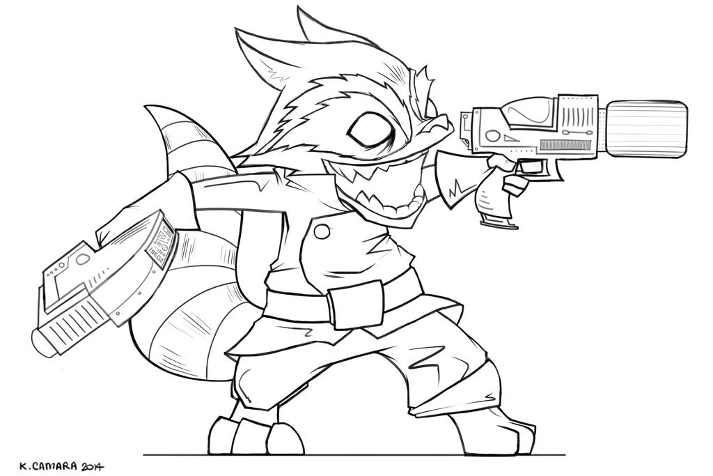 Line Drawing Raccoon : Rocket raccoon line work by lunatrix on deviantart