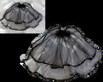 Transparent gothic black veil