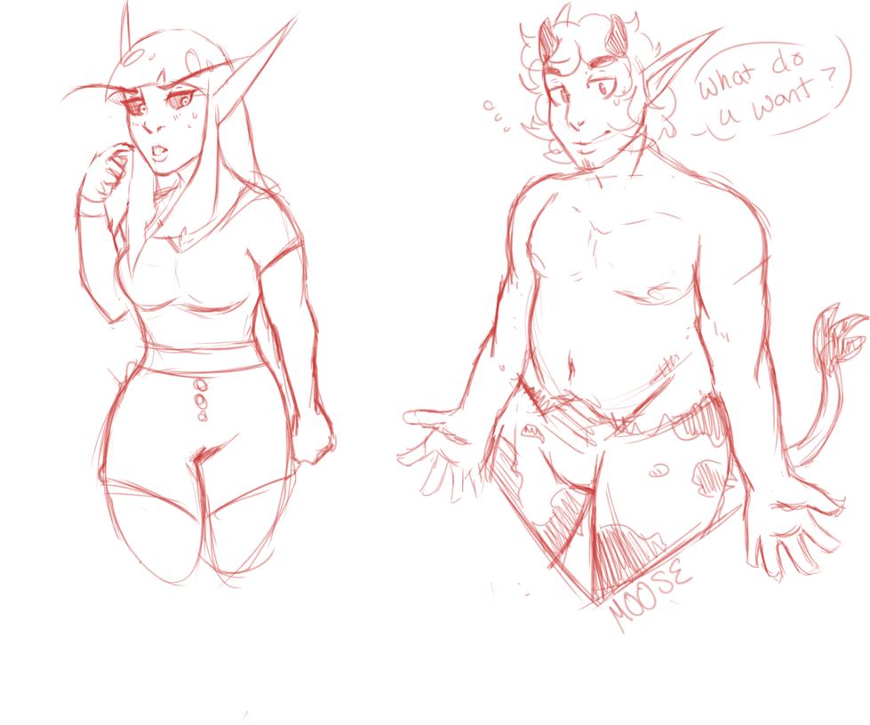scrap sketches by Wolvesies