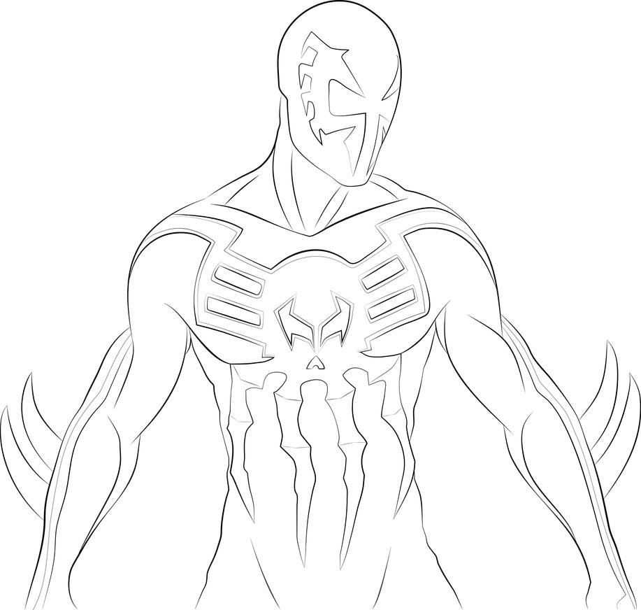 Spiderman body drawing