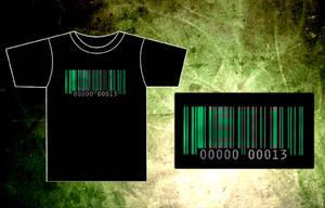 SiD Bar-Code T-Shirt by BRokeNARRoW13