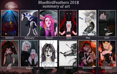 Summary of art 2018 by BlueBirdFeathers