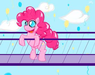 Pinkie Pie in the Sky by grayscalerain