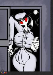 Eddie Stripesocks - Milkmaid by grayscalerain