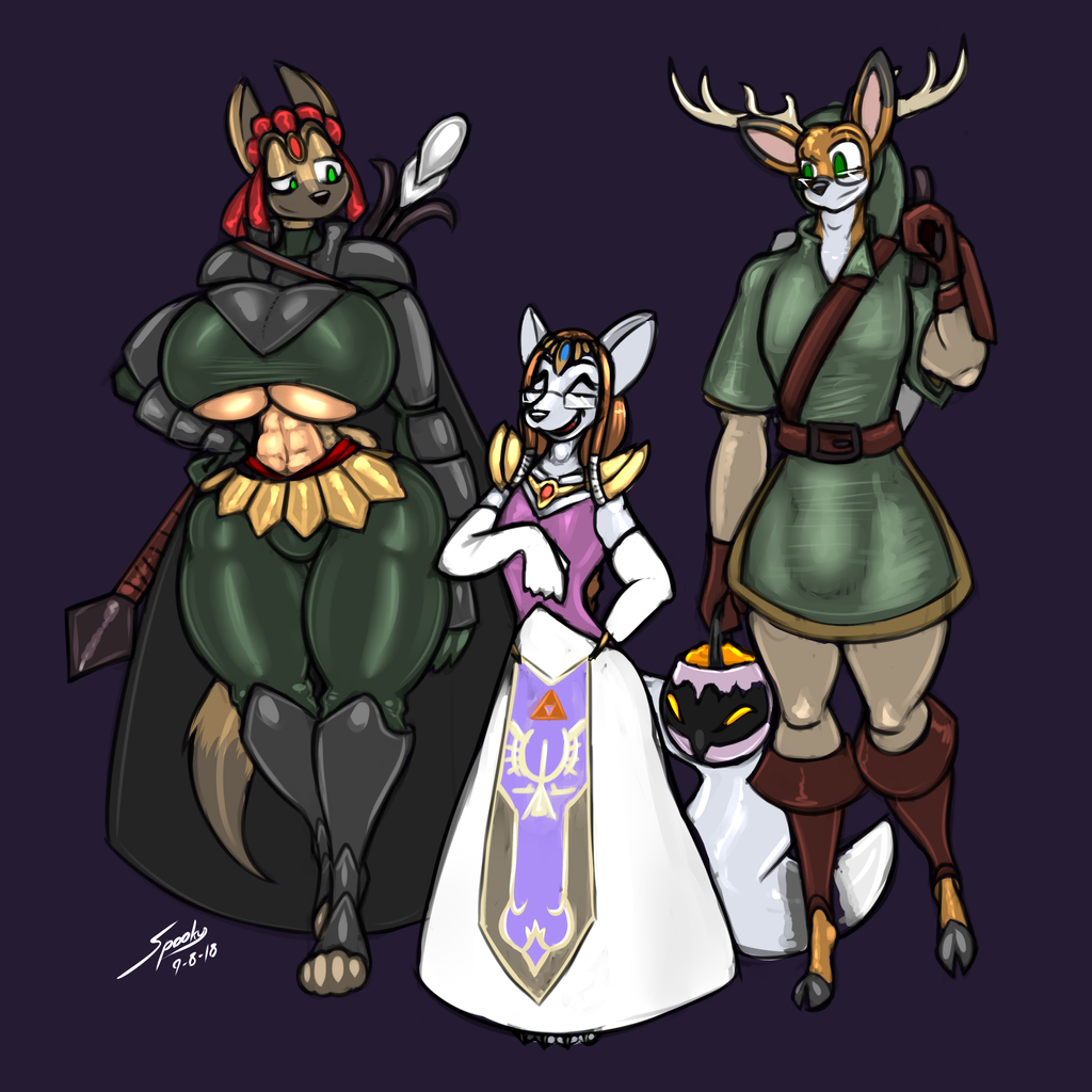 Halloween '18 - The Fated Trio by grayscalerain