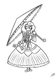 Concept Sketch - Livia by grayscalerain