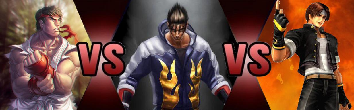 Ryu Hoshi vs. Jin Kazama vs. Kyo Kusanagi Alt 2. by GokuvsSuperman117