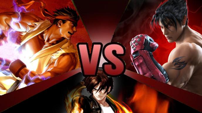 Ryu Hoshi vs. Jin Kazama vs. Kyo Kusanagi Alt. by GokuvsSuperman117