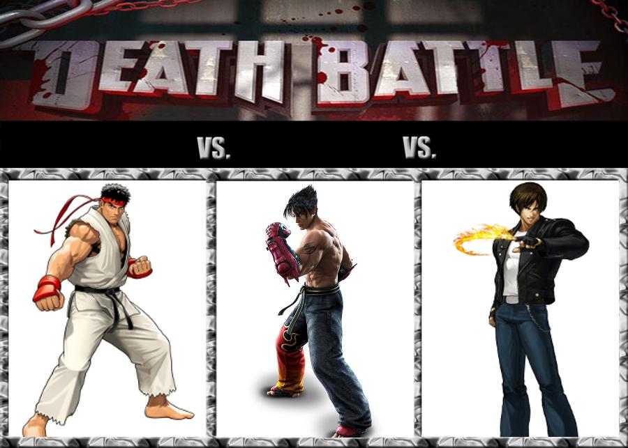 Ryu Hoshi vs. Jin Kazama vs. Kyo Kusanagi by GokuvsSuperman117