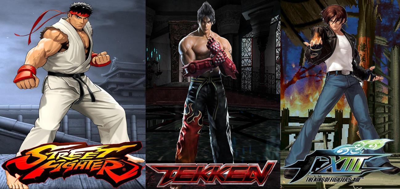 Ryu vs. Jin vs. Kyo Battle Poster by GokuvsSuperman117