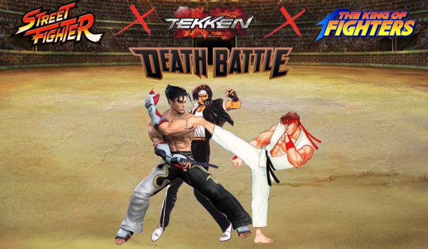 Ryu vs. Jin vs. Kyo Battle Poster Alt. by GokuvsSuperman117