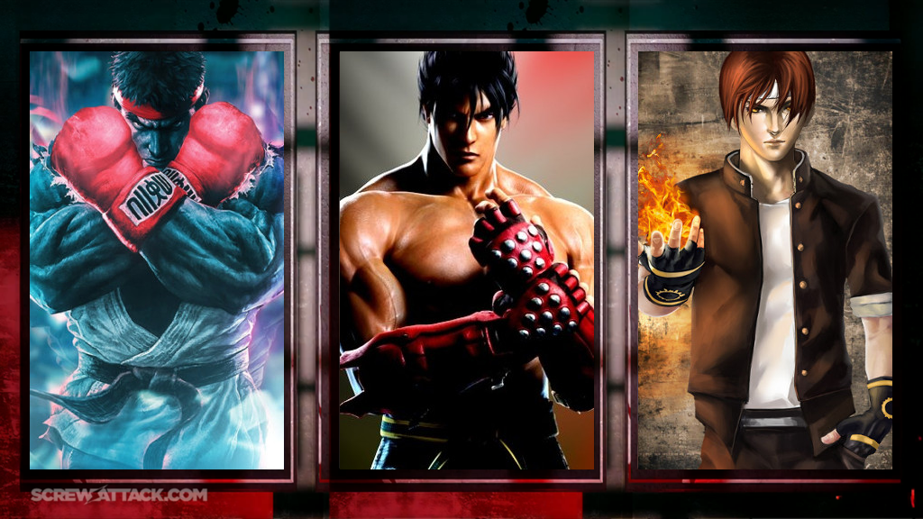 Ryu vs. Jin vs. Kyo Pre-Battle by GokuvsSuperman117