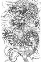 dragon tattoo by jedimistrzmocy